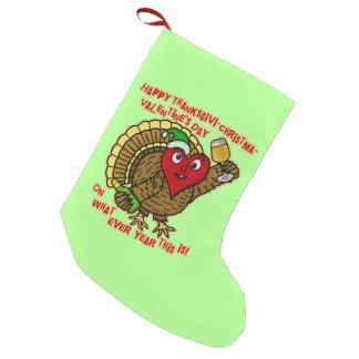 Petite Chaussette De Noël Coeur de la Turquie bu par vacances drôles
