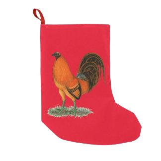 Petite Chaussette De Noël Coq de rouge de gingembre de coq de combat