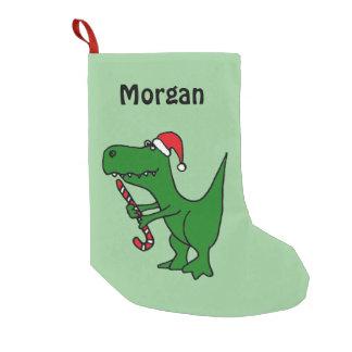 Petite Chaussette De Noël Dinosaure drôle de T-Rex dans le bas de chapeau de