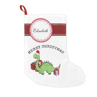 Petite Chaussette De Noël Dinosaure drôle mignon de Père Noël de Noël
