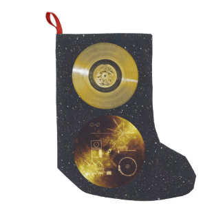 Petite Chaussette De Noël Disque d'or et couverture de vaisseau spatial de