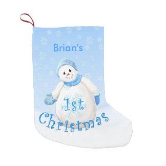 Petite Chaussette De Noël Ęr nom de coutume de bonhomme de neige de Noël du