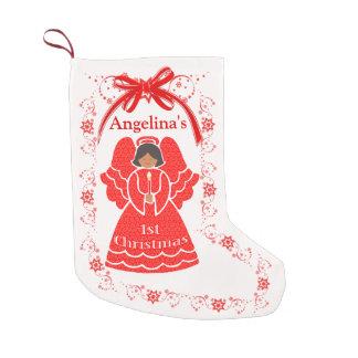 Petite Chaussette De Noël ęr Nom ethnique de coutume de bébé d'ange de Noël