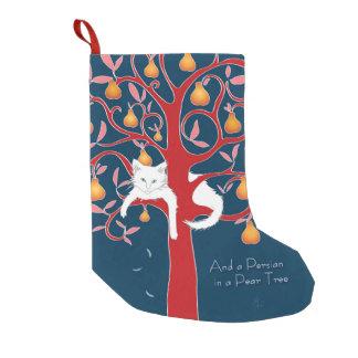 Petite Chaussette De Noël Et un Persan dans un poirier…