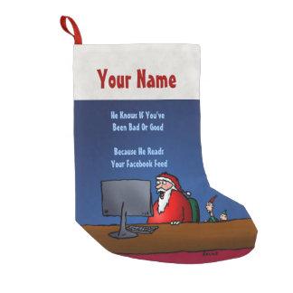 Petite Chaussette De Noël Il sait si vous avez été mauvais Père Noël drôle