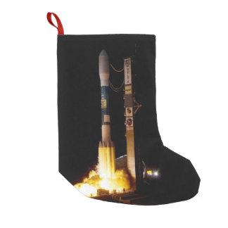 Petite Chaussette De Noël Lancement de Rocket d'espace de nuit