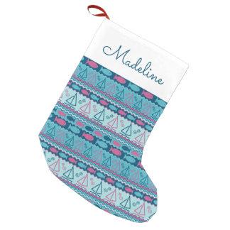 Petite Chaussette De Noël Le motif superbe | de poissons et de voilier