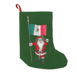 Petite Chaussette De Noël Le père noël avec le drapeau du Mexique