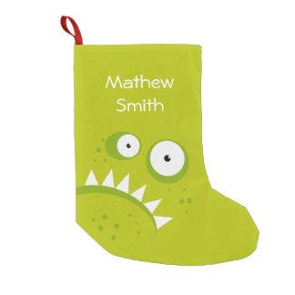 Petite Chaussette De Noël Monstre vert effrayant drôle fâché grincheux