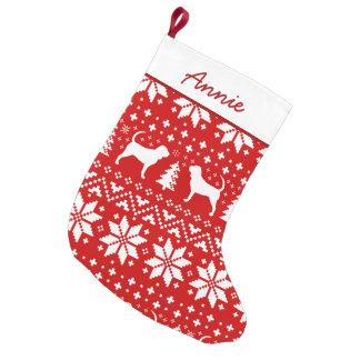 Petite Chaussette De Noël Motif de silhouettes de limier