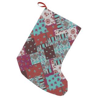 Petite Chaussette De Noël Motif rustique de Paisley de patchwork