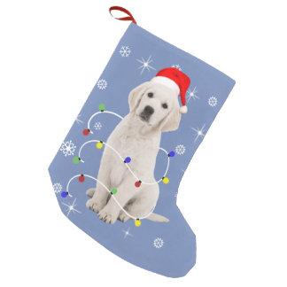 Petite Chaussette De Noël Noël de vacances de chiot de golden retriever