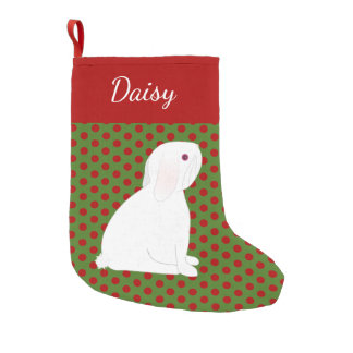 Petite Chaussette De Noël Noël personnalisé par lapin blanc d'oreille de Lop