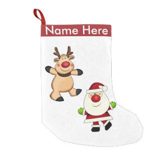 Petite Chaussette De Noël Père Noël et renne
