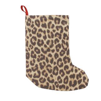 Petite Chaussette De Noël Petit bas de Noël d'empreinte de léopard