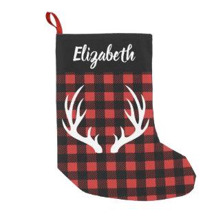 Petite Chaussette De Noël Plaid rustique de contrôle de Buffalo et