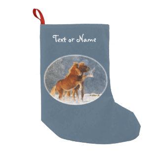 Petite Chaussette De Noël Poulain islandais de chevaux dans Père Noël