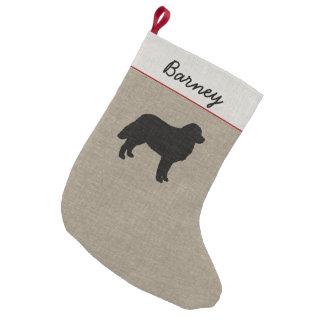 Petite Chaussette De Noël Silhouette de chien de montagne de Bernese avec le