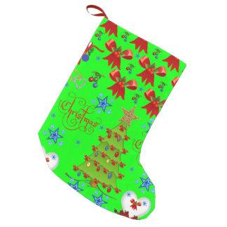 Petite Chaussette De Noël Stockage de Noël vert clair