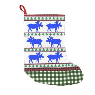 Petite Chaussette De Noël Une fois dans un orignal bleu - bas