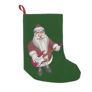 Petite Chaussette De Noël Vedette du rock Père Noël avec la guitare