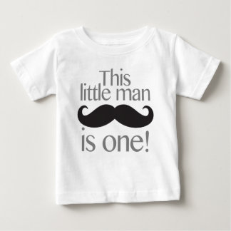 Petite chemise d'anniversaire de moustache d'homme t-shirt pour bébé
