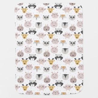 Petite couverture de bébé d'animaux