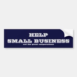 Petite entreprise d'aide autocollant de voiture