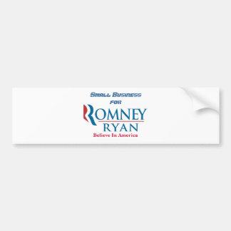 Petite entreprise pour Romney Ryan Autocollant De Voiture