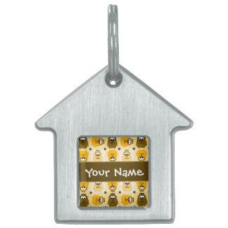 Petite étiquette personnalisée d'animal familier d médaillon avec nom pour chien et chat