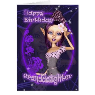 Petite-fille - carte d'anniversaire avec l'EL