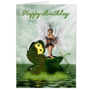 Petite-fille, carte d'anniversaire - fée de cygne
