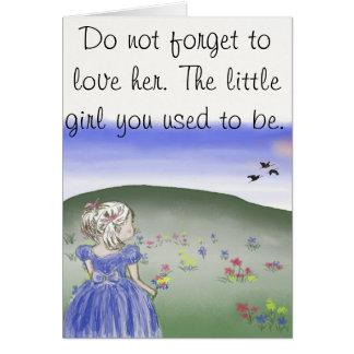 Petite fille, carte postale