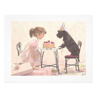 Petite fille et chien Celelbration Prospectus 21,6 Cm X 24,94 Cm
