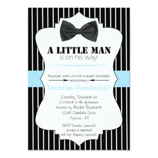 Petite invitation de baby shower de cravate d'arc