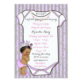 Petite invitation de princesse baby shower, à la