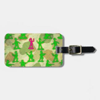 Petite licorne verte d'armée étiquette à bagage