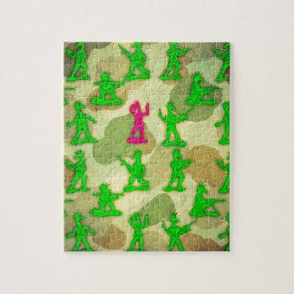 Petite licorne verte d'armée puzzle