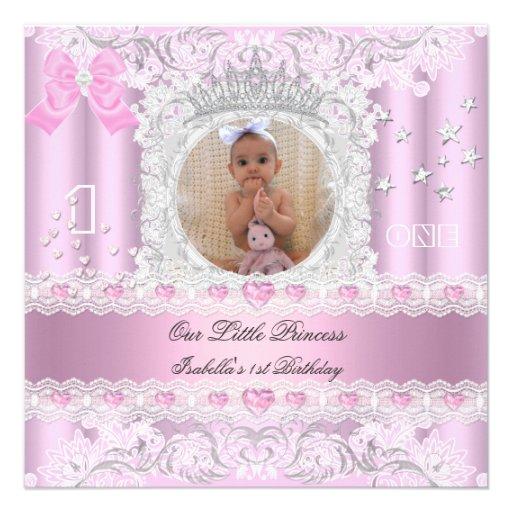 Petite photo de fête d'anniversaire de princesse F Invitations