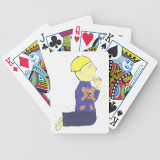 Petite prière de garçon cartes à jouer