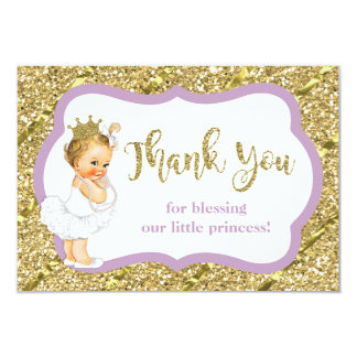 Petite princesse carte de remerciements, parties