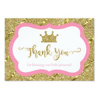 Petite princesse carte de remerciements, rose,
