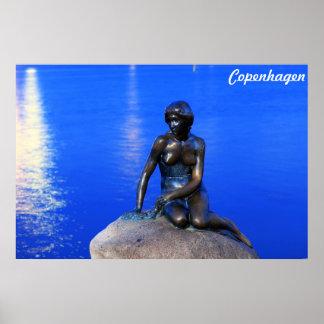 Petite statue de sirène, Copenhague, Danemark