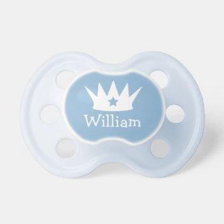 Petite tétine faite sur commande de bébé bleu du
