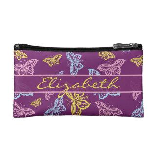 Petite Trousse De Maquillage Le papillon coloré personnalisent le motif
