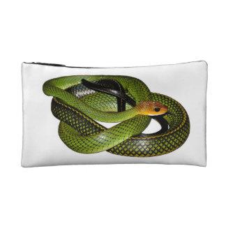 Petite Trousse De Maquillage Ratsnake Noir-mis en marge ou serpent de rat vert
