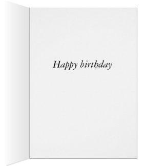 Petite une carte d'anniversaire