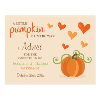 Petites cartes mignonnes de conseil de baby shower