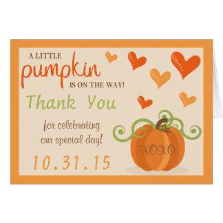 Petites cartes mignonnes de Merci de baby shower