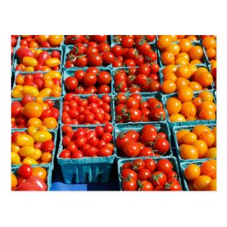 Petites tomates rouges et oranges cartes postales